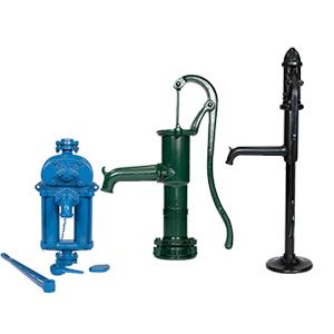 Ruční čerpadla a ruční pumpy, dekorativní pumpy